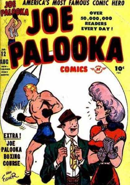 Joe Palooka 12 - Boxer - Punching Bag - Aug No 12 - Red Dress - Ham Fisher - Joe Simon