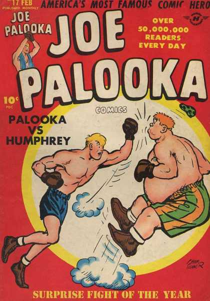 Joe Palooka 17 - Palooka Vs Humphrey - Surprise Fight Of The Year - Boxers - Boxing Match - Boxing Gloves - Joe Simon