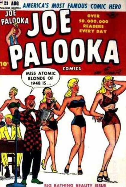 Joe Palooka 23 - Ladies - Atomic Blonde - Beauty Issue - Bikini - Announcer - Joe Simon