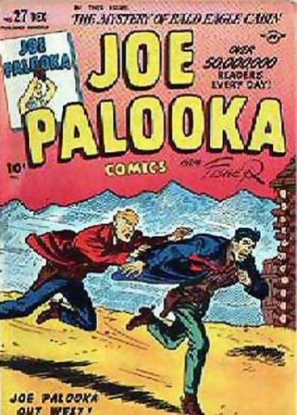 Joe Palooka 27 - The Mystery Of Rald Eagle Cabin - Joe Falooka - Chasing - Running - Weaz - Joe Simon