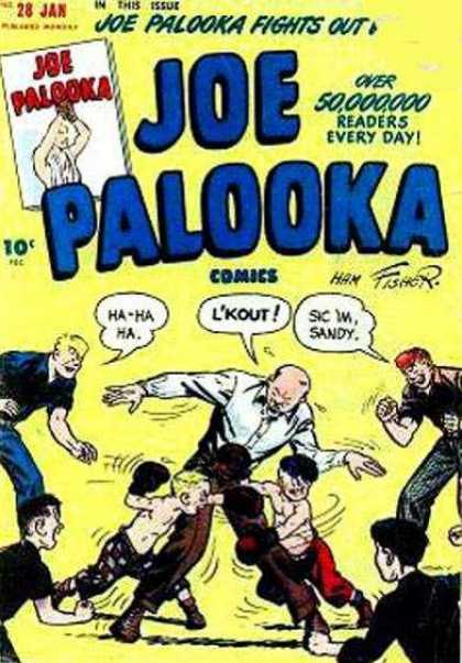 Joe Palooka 28 - Fights Out - Boxing - 50000000 Readers - 28 Jan - Sandy - Joe Simon