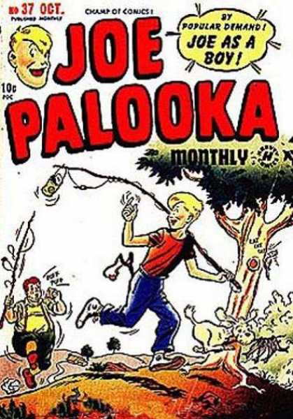 Joe Palooka 37 - Joe Palooka - Fishing Poles - Dog - Friend - Tree - Joe Simon