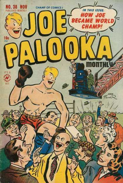 Joe Palooka 38 - Joe Palooka - How Joe Became World Champ - No 38 - Boxing - Monthly - Joe Simon