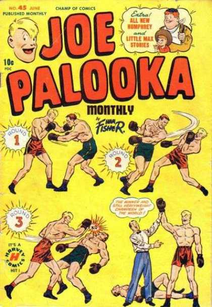 Joe Palooka 45 - Boxing - Champ Of Comics - Little Max - Fisher - Joe Palooka - Joe Simon