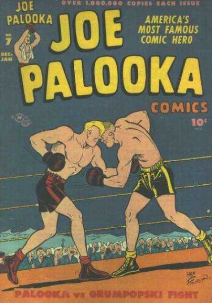 Joe Palooka 7 - Palooka Vs Grumpopski - Yellow Hair - Boxing - Red Tights - Yellow Tights - Joe Simon