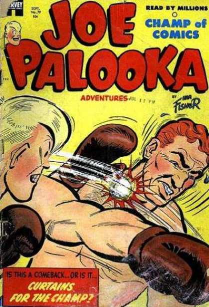 Joe Palooka 79 - Champ Of Comics - Boxing - Curtains For The Champ - Two Boxers - Fisher - Joe Simon