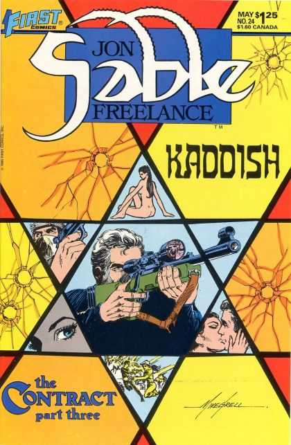 Jon Sable Freelance 24 - The Contract Part Three - Kaddish - Romance - Guns - Mike Grell - Mike Grell