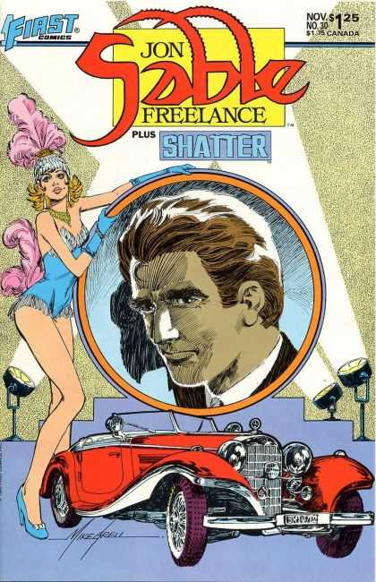 Jon Sable Freelance 30 - Car - One Beautiful Women - One Young Man - Beautiful Eyes - Waiting - Mike Grell