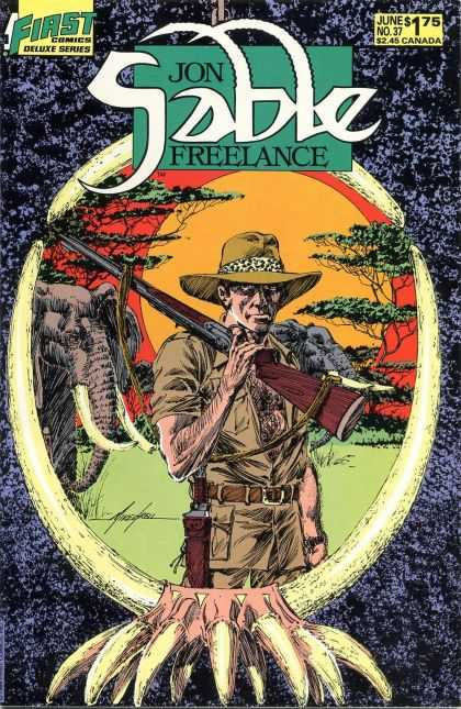 Jon Sable Freelance 37 - Elephant - First - Freelance - Gun - Soldier - Mike Grell