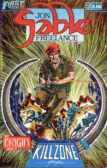 Jon Sable Freelance 5 - Red Beret - Freelance Military - Killzone - Sable Shooting - Origin Killzone - Mike Grell