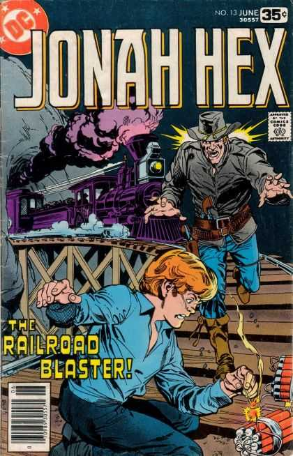 Jonah Hex 13 - Approved By The Comics Code - Train - Man - Railroad Blaster - Dynamite - Dick Giordano, Richard Buckler