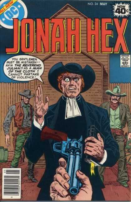 Jonah Hex 24 - All New - Approved By The Comics Code - House - Gun - Cowboy - Luis Dominguez
