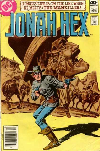 Jonah Hex 31 - Dc - 40c All New - No31 Dec - Jonahs Life Is On The Line When He Meets - The Mankiller - Luis Dominguez, Richard Corben