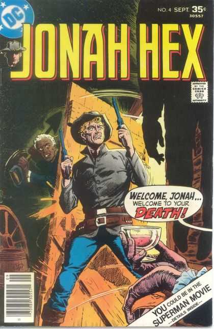 Jonah Hex 4 - Guns In Both Hands - Some One Is Hiding And Ready For Attack - Besides The Door - Superman Movie - Death - Howard Chaykin, Luis Dominguez