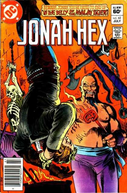 Jonah Hex 62 - Torture - Branding - Axe - Skeleton - Chinese Man - Dick Giordano, Ross Andru