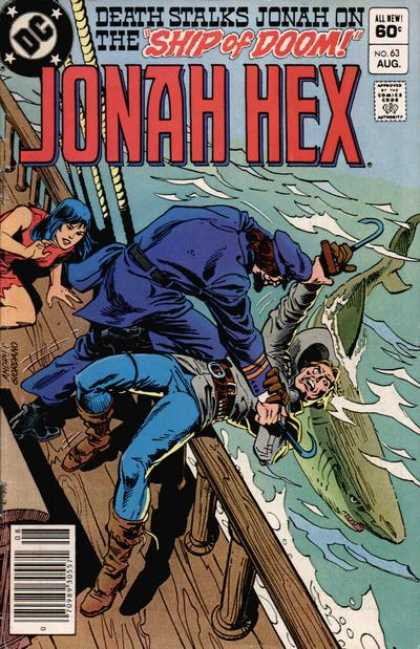 Jonah Hex 63 - Dc - August - Ship Of Doom - 60 Cents - Pirate - Dick Giordano, Ross Andru