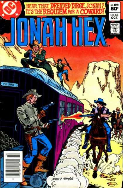 Jonah Hex 65 - Robbing Train - Track - Dirge - Coward - Requiem - Ross Andru