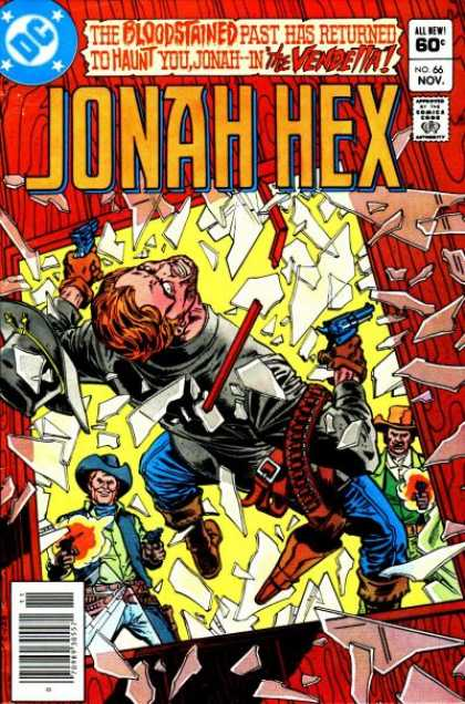 Jonah Hex 66 - Shootout - Guns - Killing - The Vendetta - Breaking Glass - Ross Andru