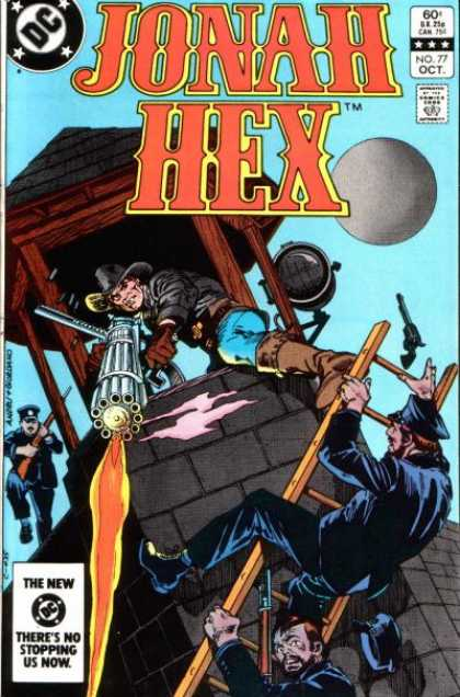Jonah Hex 77 - Dc Comics - Machine Gun - Brown Boots - Black Hat - Spot Light - Dick Giordano, Ross Andru