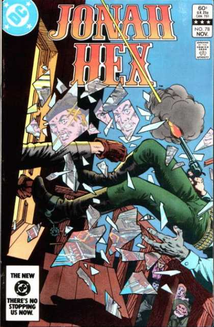 Jonah Hex 78 - Hexagonal Images - Hot Laser Gun - Mans Face - Broken Window - Fist Shooting Punch - Ross Andru