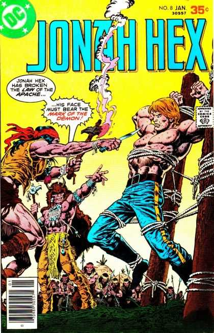 Jonah Hex 8 - Indians - Dc - Man Tied Up - Knives And Axes - Musculature - Ernie Chan