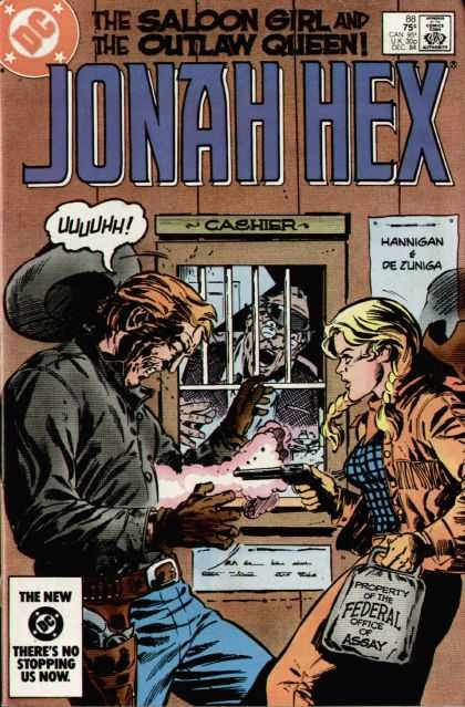 Jonah Hex 88 - Dc - The Saloon Girl - The Outlaw Queen - Gun - Comics Code - Tony DeZuniga
