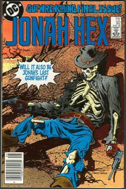 Jonah Hex 92 - August Issue - Skeleton - Desert - Gunslinger - Solder - Denys Cowan, Klaus Janson