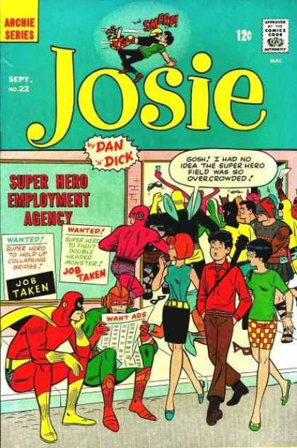 Josie 22 - Employment Agency - Want Ads - Newspaper - Superheroes - Guitar