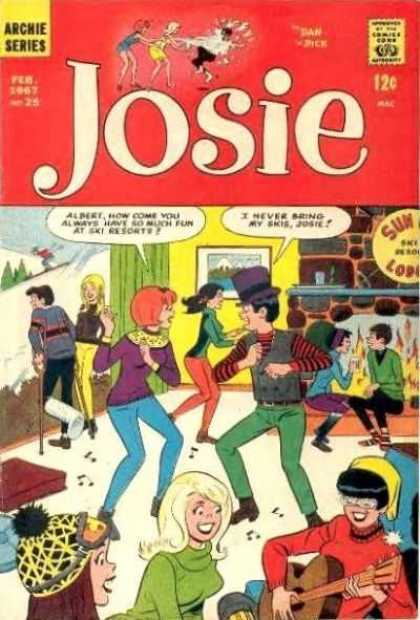 Josie 25 - Archie - Cast - Broken Leg - Guitar - Fire Place