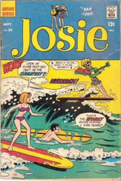 Josie 36 - Archie Series - Surfing - Guitar Playing - No 30 - Dan Dick