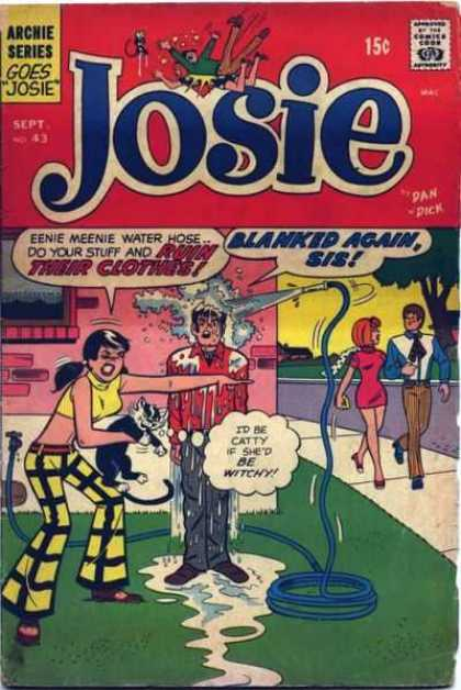 Josie 43 - Hose - Cat - Wet - Witch - Sidewalk