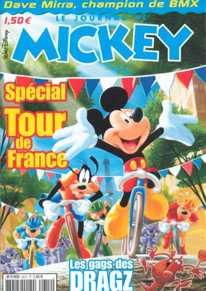 Journal de Mickey 15 - Mickey Mouse - French - Tour De France - Goofy - Dave Mirra
