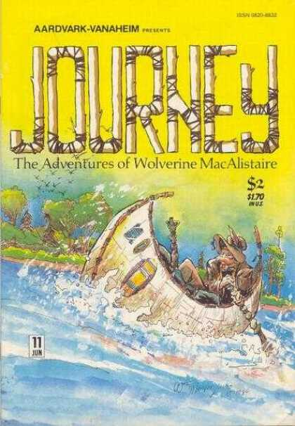 Journey 11 - One Boat - Flash River - One Man - Trees - William Messner-Loebs