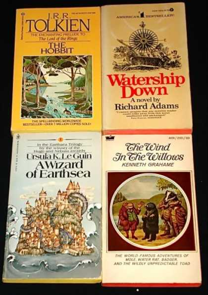 "J.R.R. Tolkien Books - Classic Fantasy Lot: ""The Hobbit,"" ""Watership Down,"" ""A Wizard of Earthsea,"" ""Th"