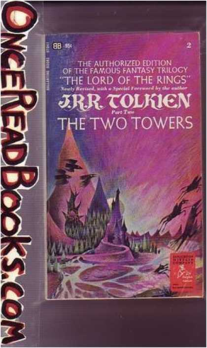 J.R.R. Tolkien Books - The Two Towers, Part Two of the Lord of the Rings Trilogy