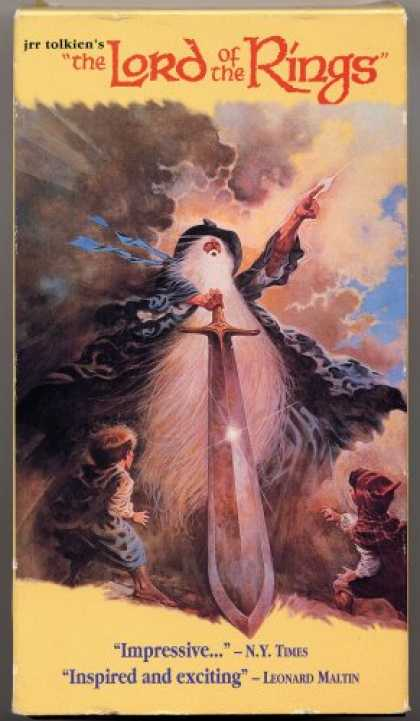 J.R.R. Tolkien Books - J. R. R. Tolkien's THE LORD OF THE RINGS VHS Animated by Ralph Bakshi