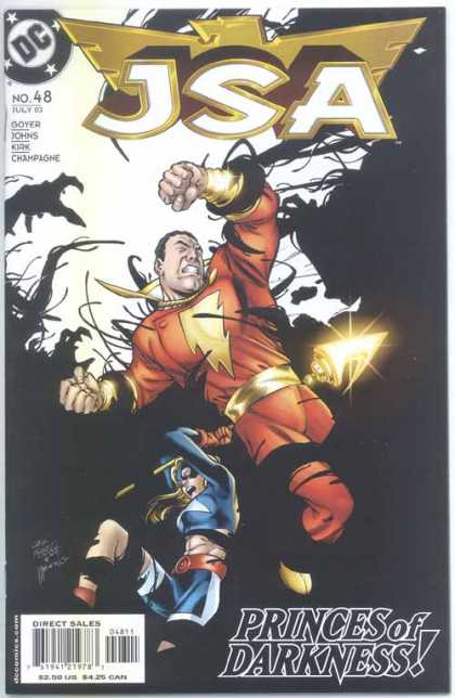 JSA 48 - Fight - Princes Of Darkness - Carlos Pacheco, Michael Bair