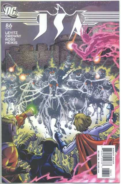 JSA 86 - Ghosts - Horses - Green Lantern - Dc - Glowing - George Perez, Tom Smith