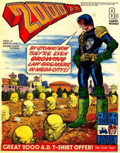Judge Dredd - 2000 AD 18 - Stomm - Growing - Law - Breakers - Mega - City - Top Thrill
