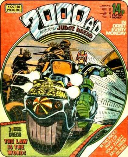 Judge Dredd - 2000 AD 180 - Judge Dredd - The Law Is The Word - Motorcycle - John Wagner - Pat Mills