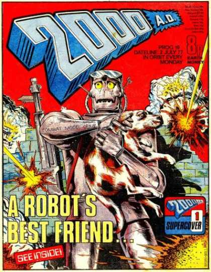 Judge Dredd - 2000 AD 19 - Robot - Dog - Judge Dredd - 2000 Ad - Protect