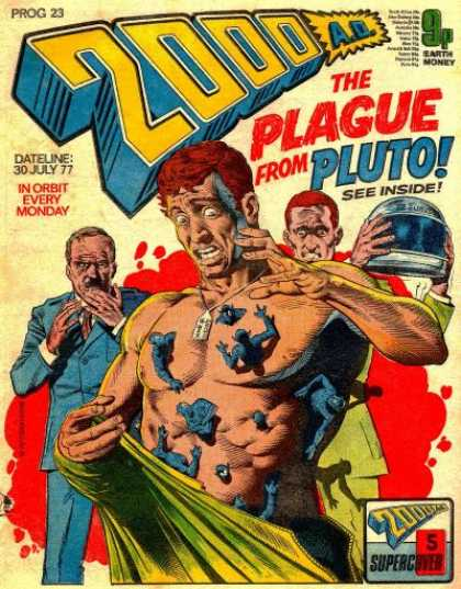 Judge Dredd - 2000 AD 23 - Plague - Pluto - Parasites - Disease - Bacteria
