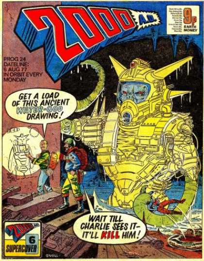 Judge Dredd - 2000 AD 24 - Earth Honey - Prog 24 - 6 Aug 77 - In Orbit Every Monday - Water God