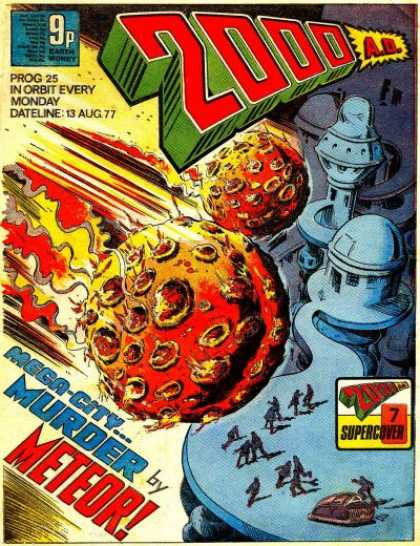 Judge Dredd - 2000 AD 25 - Meteor - Mega-city - Supercover - Destruction - In Orbit Evert Monday