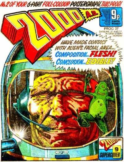 Judge Dredd - 2000 AD 27 - Frog - Alien - Spaceman