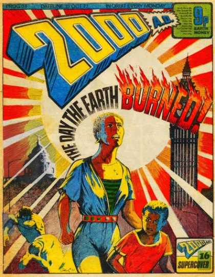 Judge Dredd - 2000 AD 34 - London - The Day The Earth Burned - Tunic - Explosion - Atomic