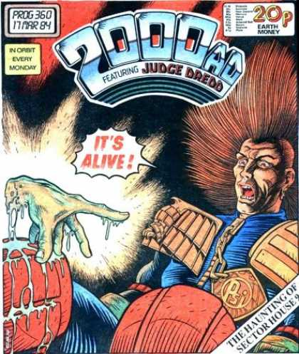 Judge Dredd - 2000 AD 360 - 2000ad - Judge Deadd - Science Fiction - Sector House 9 - Haunted Sector House
