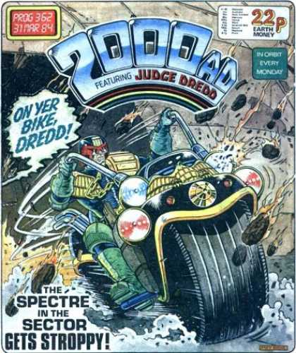 Judge Dredd - 2000 AD 362 - Motorcycle - Prog 362 - 31mar 84 - The Spectre Int He Sector - Gets Stroppy