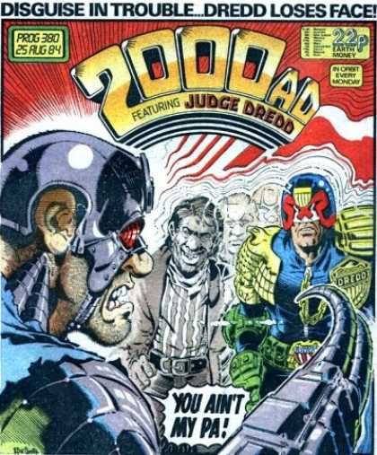 Judge Dredd - 2000 AD 380 - Disguise - Trouble - Face - Shock - Transform