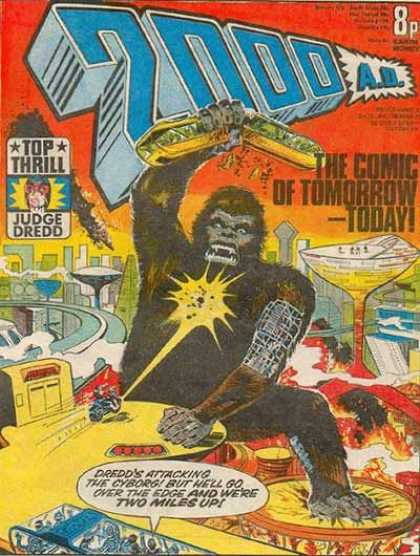 Judge Dredd - 2000 AD 5 - Terror In The Streets - The Doomed City - The End Of The City - The Ape Attacks - The Ape In The City